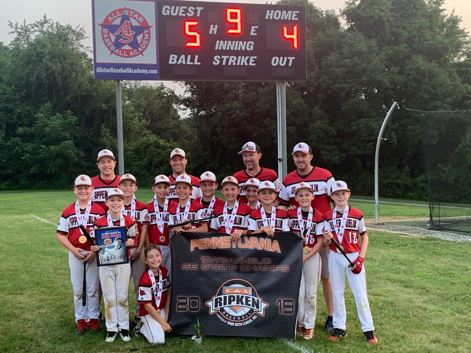 Congratulations to the 10U Upper Dublin Cardinals travel baseball team for winning the SE Pennsylvania State Championship. The team advanced to the Mid-Atlantic Regional Tournament in Buffalo, NY.